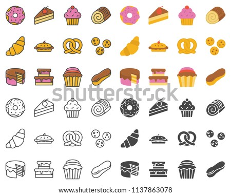 Bakery pastry outline icon