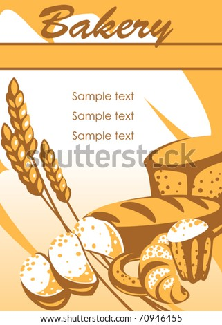 bakery products. place for your text. similar to the portfolio - stock vector