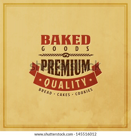 Bakery Retro Label