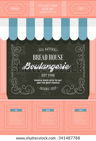 bakery shop design template....
