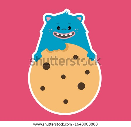 bakery shop logo with cookie