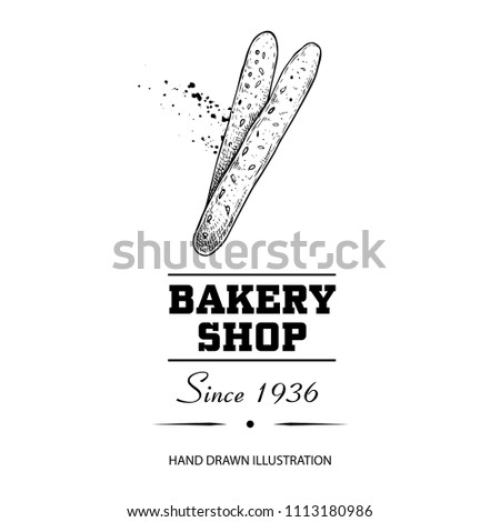 bakery shop poster top view