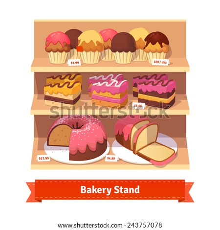 bakery shop stand with sweet