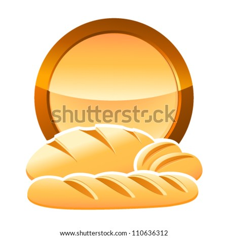 bakery sign with bread, baguettes and rolls