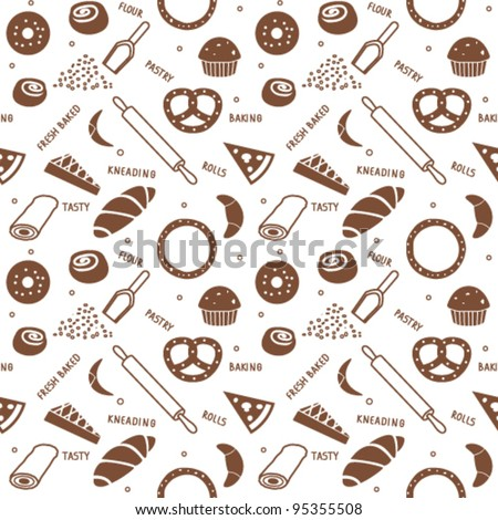 Bakery themed seamless background 1