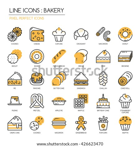 bakery    thin line and pixel