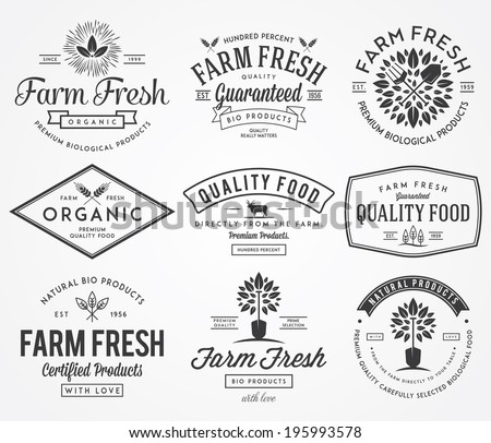 Bakery vector badges for any use
