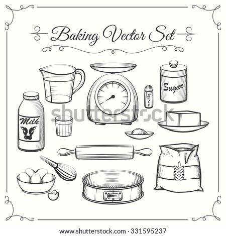 baking food ingredients and