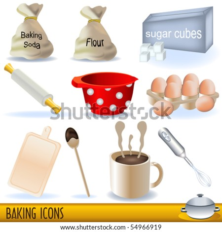 Baking icons set
