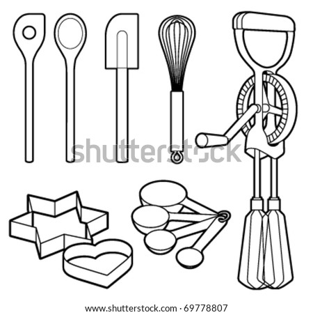 Baking Utensils Collection - Vector Illustration - 69778807