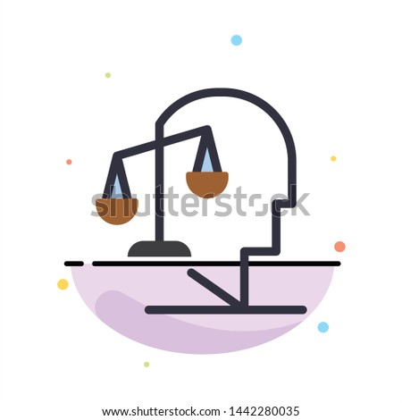 Balance, Equilibrium, Human, Integrity, Mind Abstract Flat Color Icon Template