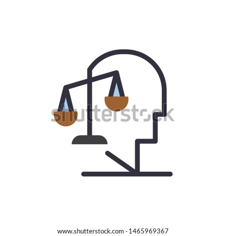 Balance, Equilibrium, Human, Integrity, Mind  Flat Color Icon. Vector icon banner Template. Vector Icon Template background