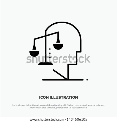Balance, Equilibrium, Human, Integrity, Mind solid Glyph Icon vector