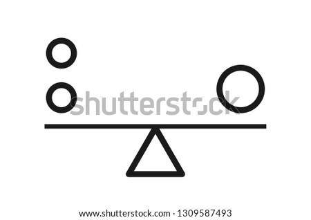Balance harmony vector icon isolated on transparent background. Business flat concept .