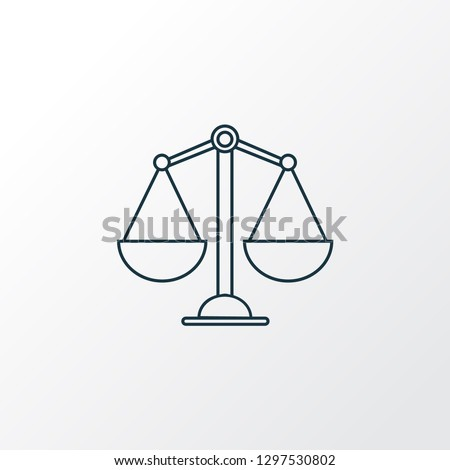 Balance icon line symbol. Premium quality isolated scale element in trendy style.