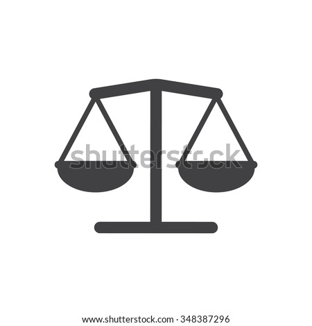 Balance Icon vector flat design