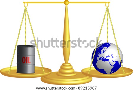 balance of oil and the planet Earth