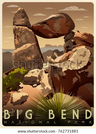 balanced rock in big bend...