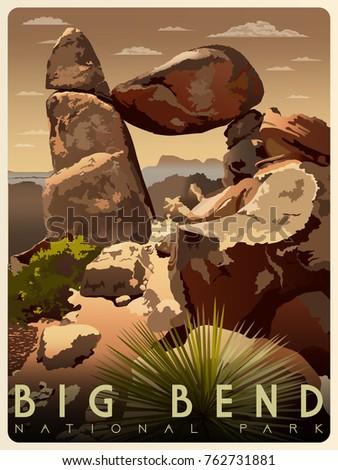 balanced rock in big bend...