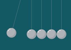 Balancing Balls Newtons Cradle. Vector illustration
