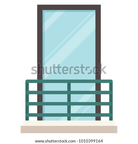 Balcony vector. free space for text. wallpaper. background.