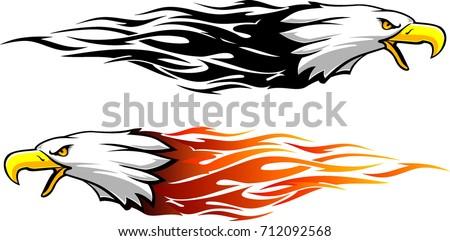 bald eagle flame set