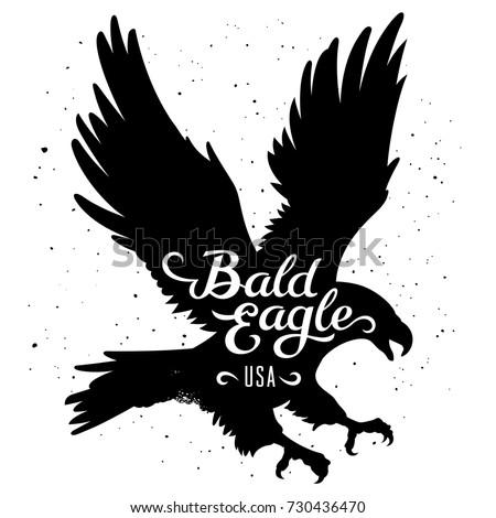 bald eagle silhouette and