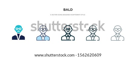 bald icon in different style vector illustration. two colored and black bald vector icons designed in filled, outline, line and stroke style can be used for web, mobile, ui