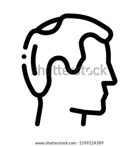 Balding Man Profile Icon Vector. Outline Balding Man Profile Sign. Isolated Contour Symbol Illustration