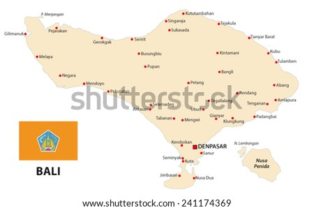 Vector bali map download free vector art stock graphics images bali map with flag gumiabroncs Gallery