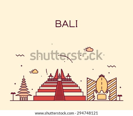 bali skyline  detailed