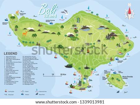 bali tourist destination map