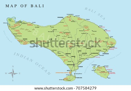 Vector bali map download free vector art stock graphics images bali vector map gumiabroncs Gallery