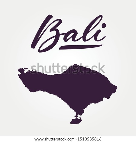 Bali Vector Map Silhouette Isolated On White Background Bali Island Part Of Indonesia Country In Asia