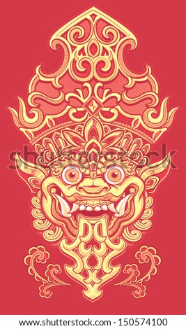 Balinese Demon Red