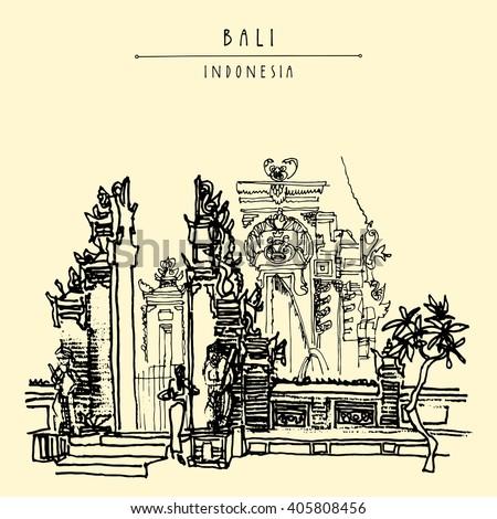 balinese hindu temple in bali