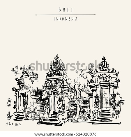 balinese hindu temple in ubud