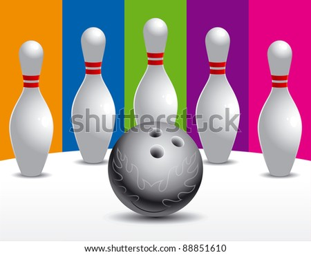 Ball and bowling pins