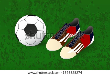 7830ef6ed ball and soccer shoes, sport - Shutterstock ID 1396828274