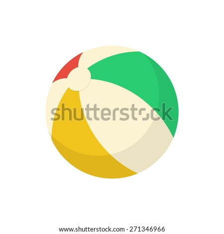 ball beach toy isolated icon