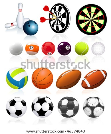 Ball collection,  vector illustration