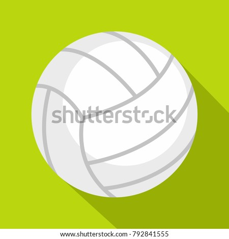Ball for playing volleyball icon. Flat illustration of ball for playing volleyball vector icon for web isolated on lime background
