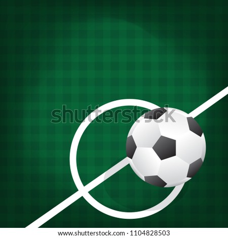 Ball for soccer or football on green color background #1104828503