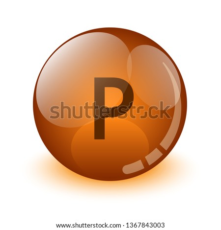 ball glass effect with words inside. vector illustration