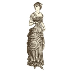 Ball gown - Vintage engraved illustration -