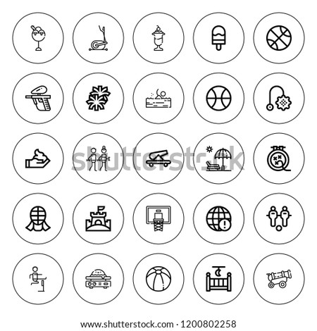 ball icon set collection of 25