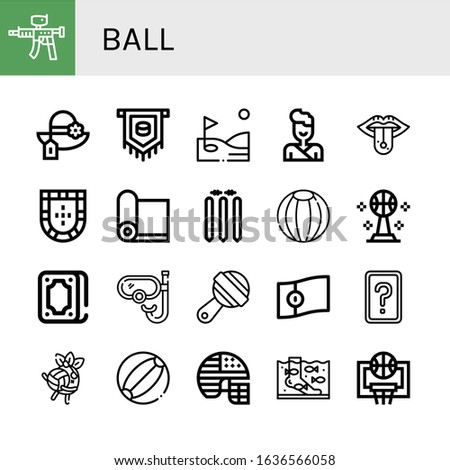 ball icon set collection of