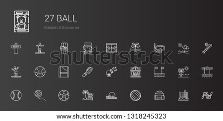 ball icons set collection of