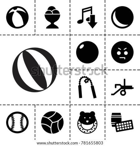 ball icons set of 13 editable