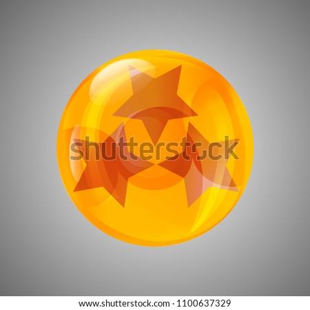 Stock Photo ball star. crystal ball
